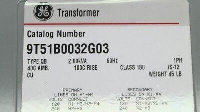 GENERAL ELECTRIC 9T51B0032G03 TYPE QB 1PH CLASS 180 NSNB - TRANSFORMER