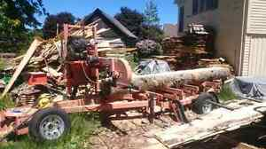 Portable woodmizer bandsaw sawmill for hire