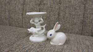 Ceramic Soap and Cotton Ball Holder