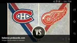 Looking for red wings habs tickets Jan 16. Please read ad