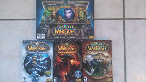 WORLD OF WARCRAFT GAMES FOR SALE IN EXCELLENT CONDITION
