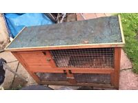 Hutch cage 2 Storey for Guinea pigs ferrets or rabbits.