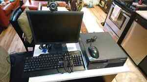 Lenovo computer.Monitor,  tower, mouse, keyboard, mouse included