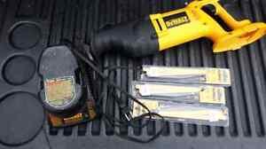 18 volt  Dewalt Recipicating  saw