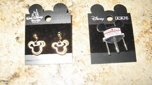 Mickey Mouse Earrings & Pin-NEW