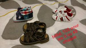 Souliers bébé à grandeur 8
