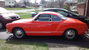 1974 VW KHARMANN GHIA 2 OWNER SOLID TEXAS CAR