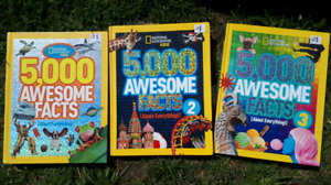 3 X 5000 Facts Books 12$ each 30$/3