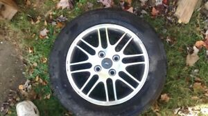 SET OF 4 P195/60/R15 ALLOY'S & TIRES
