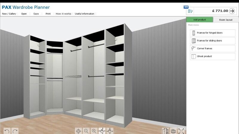 Ikea pax wardrobe combination in thornton heath london for Does ikea deliver same day
