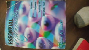 ESSENTIAL MATHEMATICS TEXTBOOK FANSHAWE COLLEGE