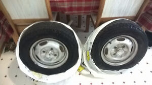 two winter tires with rim for sale