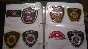Collection d'écussons de pompier / Fireman patches collection