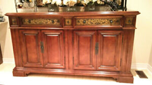High End Dining Hutch /Side Server by Stanley Furniture For Sale