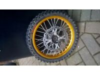 Pit bike front wheel