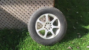 (4)  honda styled wheels ,mounted with SNOW TIRES