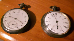 Turn of the century pocket watches