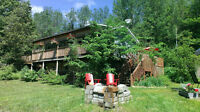 Waterfront Cottage - hot tub, BBQ, canoe, privacy, firepit