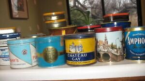 Vintage tobaco tins- Chateau Gay and ash trays