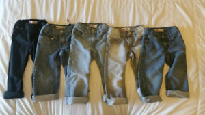$15 for lot of 5 toddler boys size 3 Levis jeans