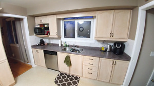 *SOLD PENDING PICK-UP* Used Oak Cabinets and Countertop