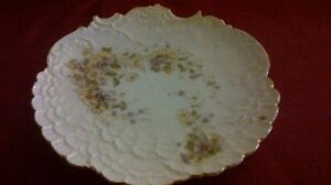 Antique handpainted porcelain plate