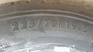 225/70R19.5 Conti HSR 14 Ply TAKE-OFF Tires CHEAP w/ install