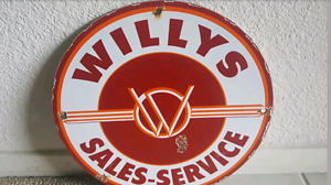 Vintage Willys sign