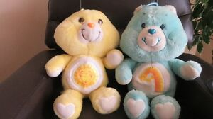 2 Care Bears Blue & Yellow