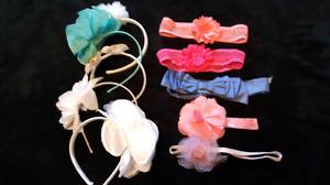 Lot of 10 little girls headbands
