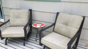 2 Patio chairs, rocking