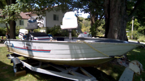 PRINCECRAFT PRO 170 BOAT, MOTOR AND TRAILER