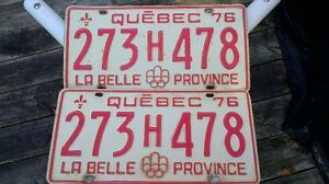 1976 Quebec License Plate
