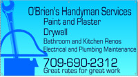 HANDYMAN AVAILABLE FOR HIRE, CAN DO IT ALL