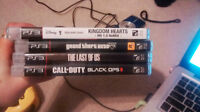 Last of Us, GTA5, COD BlackOps 2, Kingdom Hearts 1.5