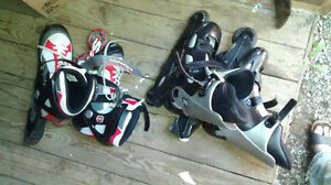 Roller blades various sizes