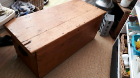 Old antique pine blanket box / coffee table