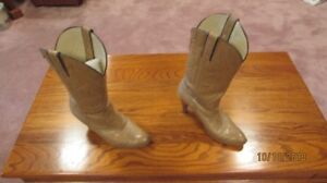 Female western boots and Hat.