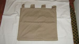 COTTON  TWILL  BEIGE  CURTAIN  PANEL