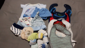 baby accessories and blanket