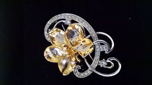 Genuine Singaporian Risis orchid brooch