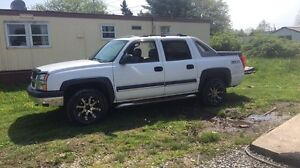 For sale or trade for a 4 wd. 4 wheeler with papers