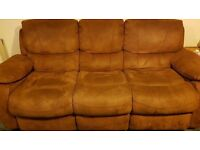 Brown recliner sofa for sale