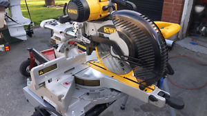 """Dewalt 10"""" Double Bevel Compound Miter Saw With Folding Stand"""