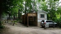 Mobile home on Nottawasaga river in Alliston for sale !