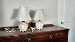matching antique lamps for bedside tables
