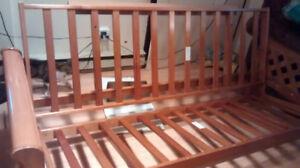 Base de futon en bois