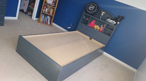 Awesome Blue Solid bedroom set Twin
