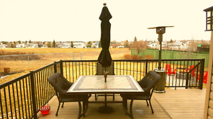 5' X 5' tiled patio dining table