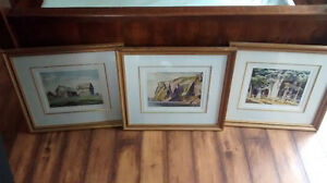 3 - A.J. CASSON SIGNED AND FRAMED PRINTS!